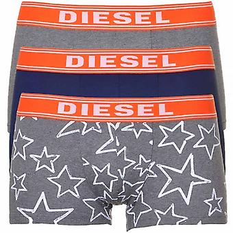 DIESEL 3-Pack Boxer Trunk UMBX-Shawn, Grey/Navy/Stars, Large
