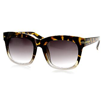 Womens Oversize Bold Rim Mod Horn Rimmed Sunglasses