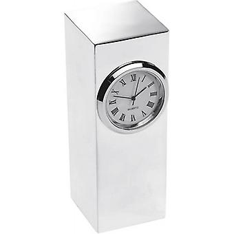 Orton West Silver Plated Tower Desk Clock - Silver