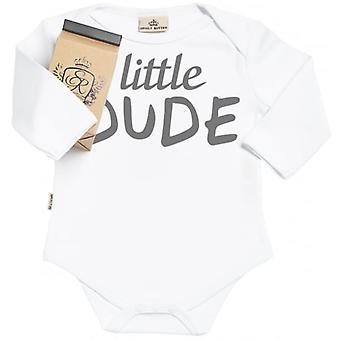 Spoilt Rotten Little Dude Organic Babygrow In Gift Milk Carton