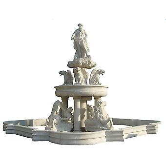 baroque fireplace  marble beige rococo antique style JrMa1000