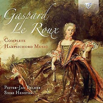 Le Roux, Gaspard / Belder, Pieter-Jan / Henstra, Siebe - Gaspard Le Roux: importation USA complète pour clavecin [CD]