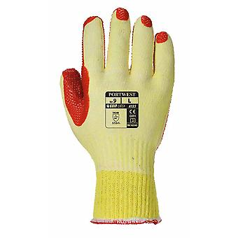Portwest - Tough Grip  Palm Dipped Gripper Gloves Pack of 12