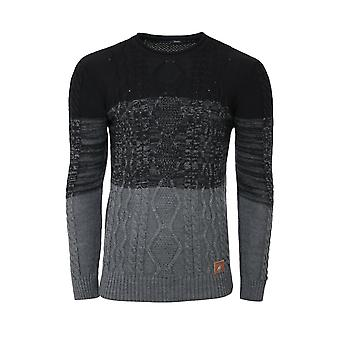 Tazzio fashion sweater mens knitted sweater round neck black