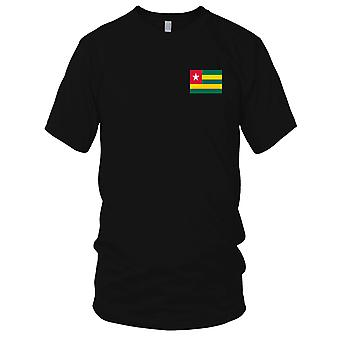 Toga Land Nationalflagge - Stickerei Logo - 100 % Baumwolle T-Shirt Damen T Shirt