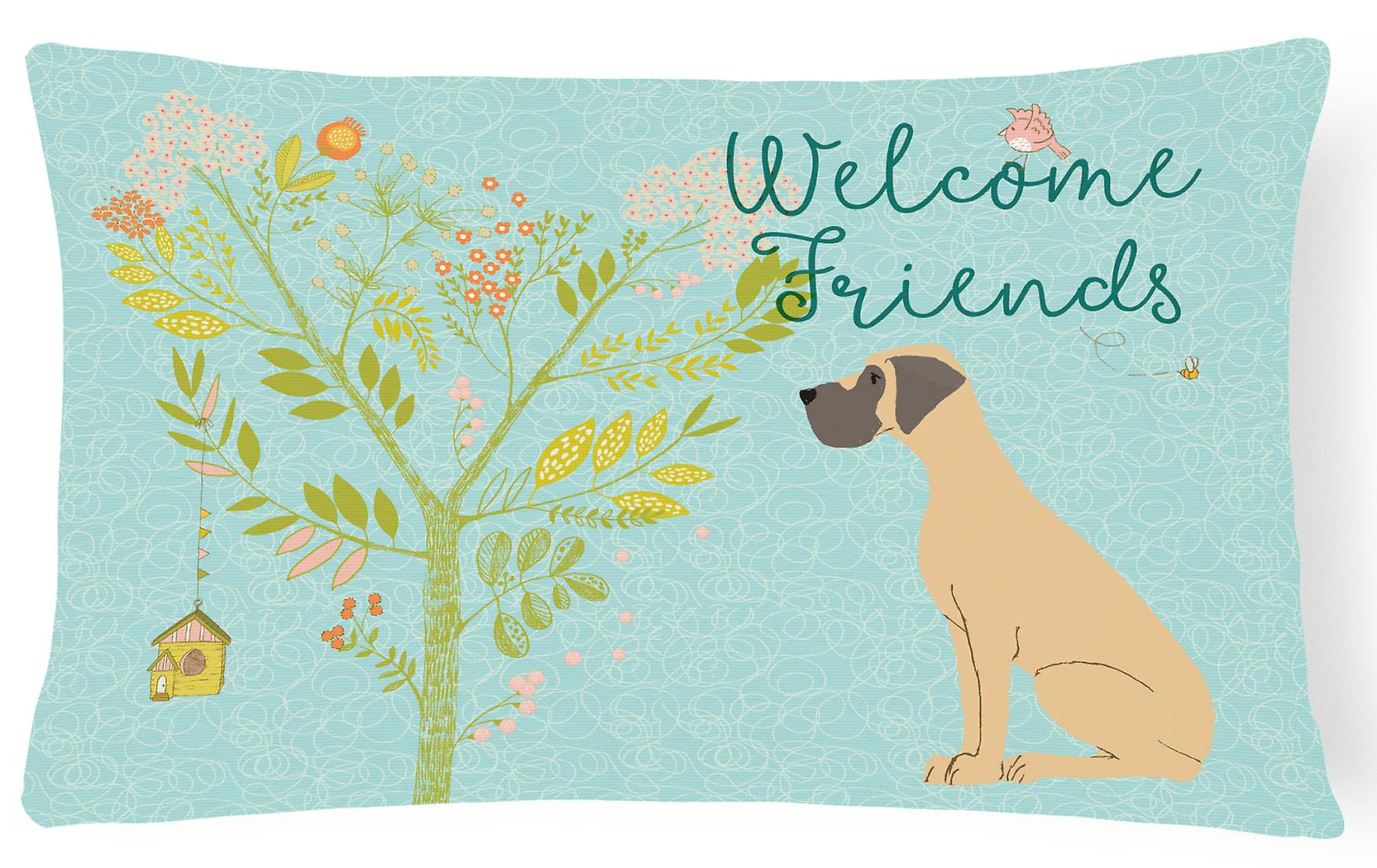 Pillow Ears Dane Canvas Fawn Natural Fabric Welcome Great Decorative Friends DIWHE9eY2