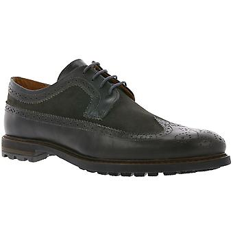 MARC shoes Brentwood men's Brogue shoes leather shoes Brown