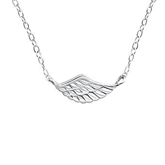 Wing - 925 Sterling Silver Plain Necklaces - W19123x