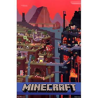 Minecraft - Cube Poster Print