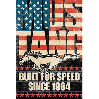 Ford - Mustang errichtet für Geschwindigkeit Plakat Poster Druck