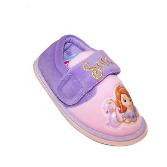 Girls Disney Sofia lilac and pink slippers
