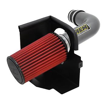 AEM 21-8314DC Brute Force Intake System with Gun Metal Tube and Red Dry Filter for Jeep Wrangler JK 3.8L 2007 - 2011