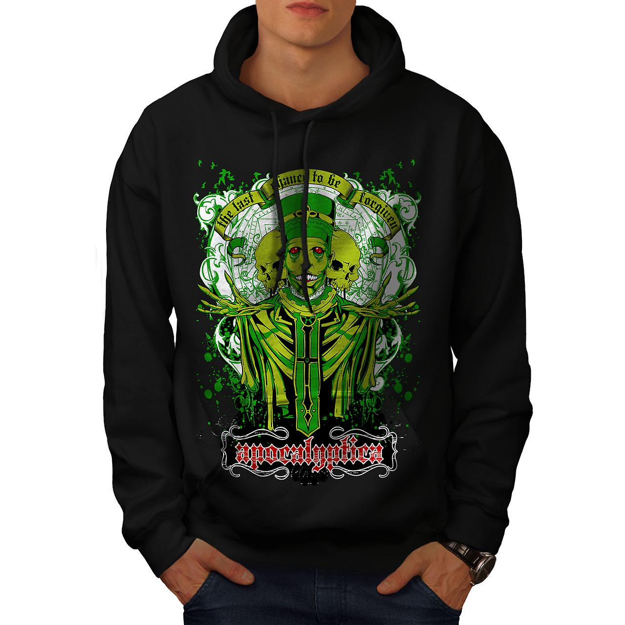 Apocalyptica Death Zombie Men Black Hoodie | Wellcoda