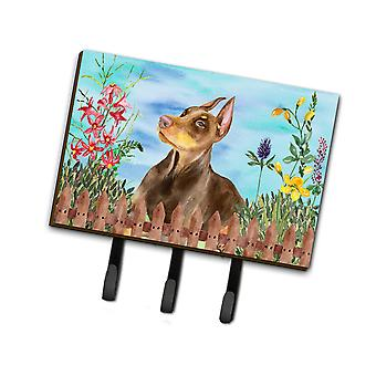 Carolines Treasures  CK1271TH68 Doberman Pinscher Spring Leash or Key Holder