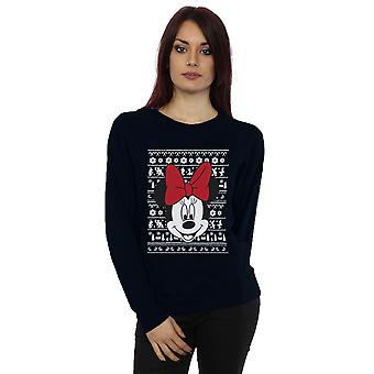 Disney Women's Mickey Mouse Christmas Head Sweatshirt
