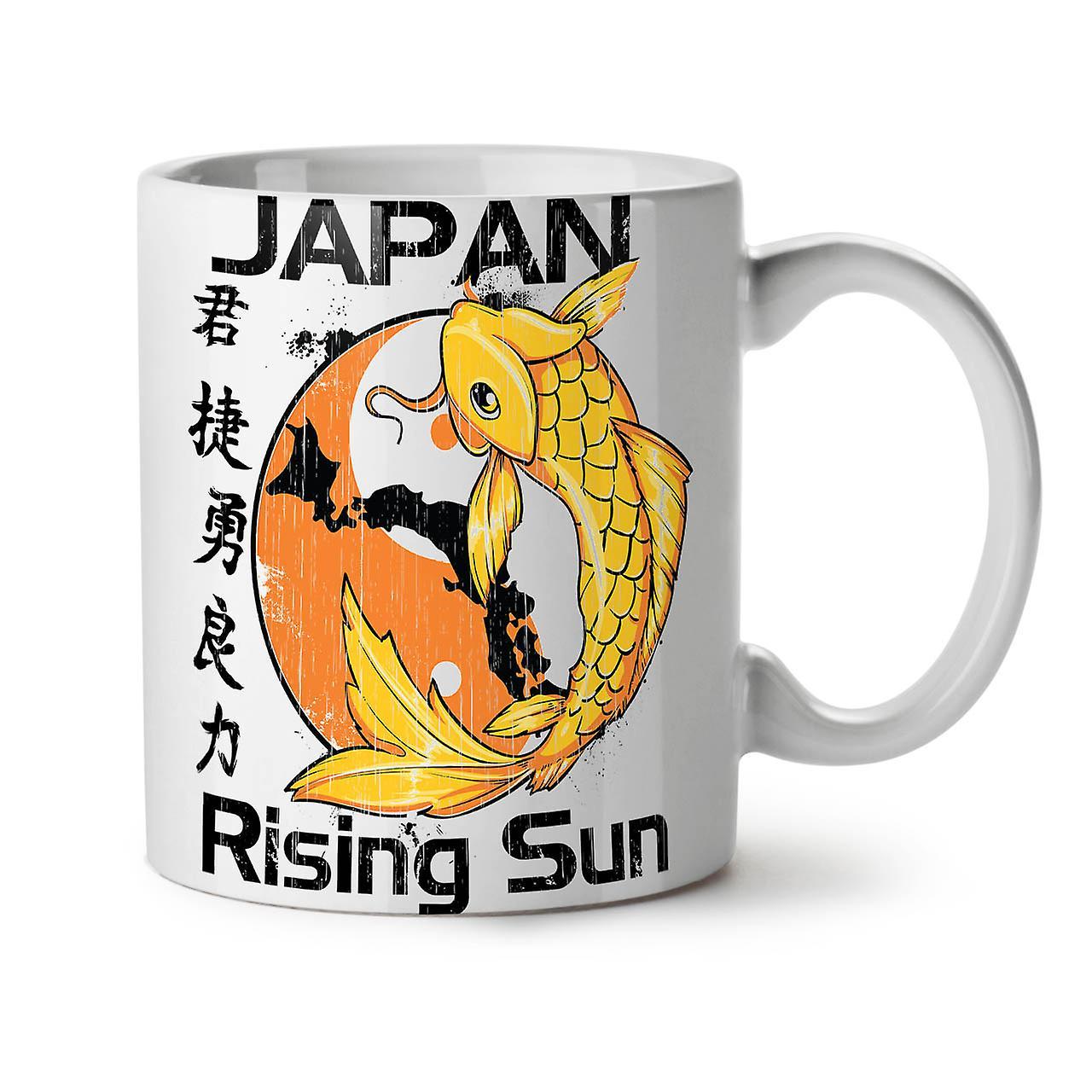 Rising Sun Thé OzWellcoda Céramique 11 Blanc Nouveau Koi Japon Café Tasse xoerWEdBQC