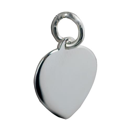 Silver 16x14mm plain heart Disc