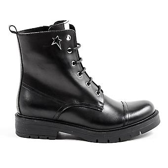 Andrew Charles Womens Short Boot Black Selema