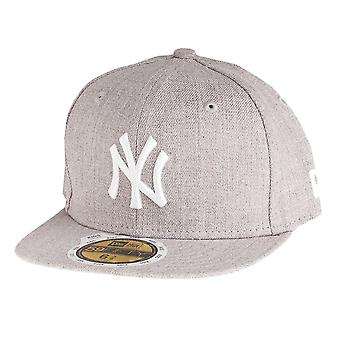 New era 59Fifty Fitted KIDS Cap - HEATHER NY Yankees grey
