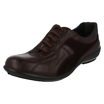 Ladies Easy B Lace Up Casual Shoes Emma