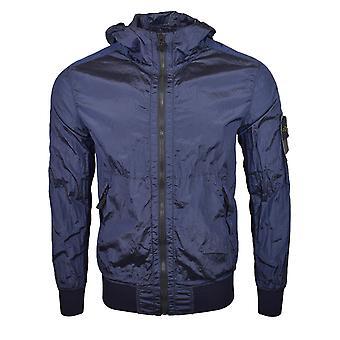 Stone Island SS18 marineblauw Nylon metalen Watro Hooded Jacket
