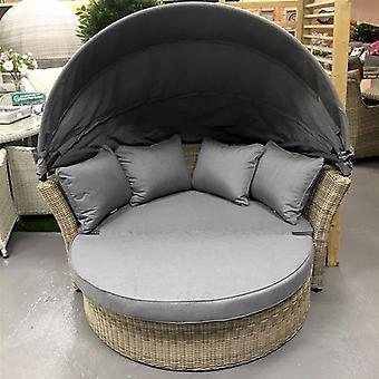 Royalcraft Wentworth 2 Seater Rattan Daybed Sofa with Hood