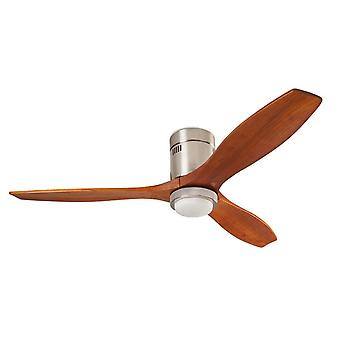 Energy-saving Ceiling Fan Stem Dark Wood with LED Light