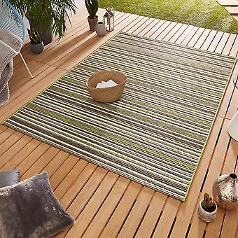 Design Outdoorteppich Web tæppe flad væve | Bambus grøn brune