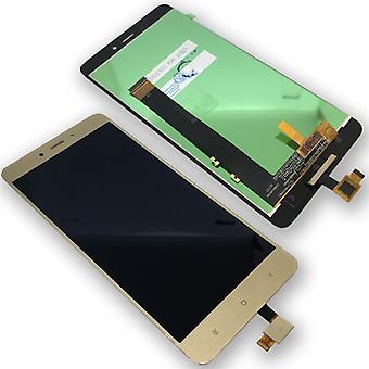 Xiaomi Redmi note 4 reparasjon vises full LCD fullstendig enhet touch gull