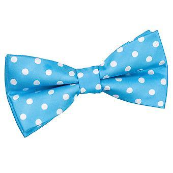 Robin's Egg Blue Polka Dot Pre-Tied Bow Tie