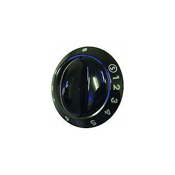 Contrôle bouton principal four noir