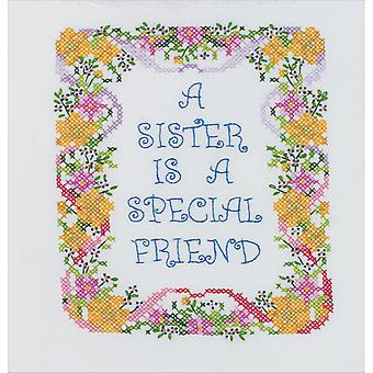 A Sister Is A Special Friend Stamped Cross Stitch Kit-7