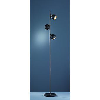 مصباح الطابق الحديثة بلاك ميتال مات داكوتا الإضاءة الثلاثي