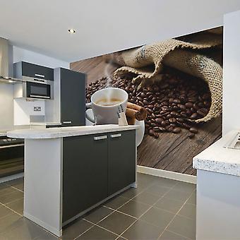 Tapeter - stjärnanis kaffe