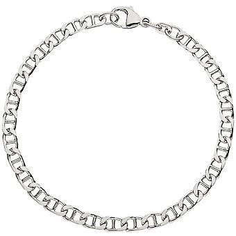 Bangle Bracelet 925 sterling zilver rhodium plated 21 cm armband zilver karabijnhaak