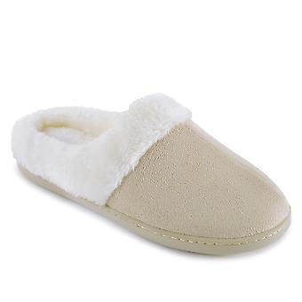 SlumberzzZ Womens Memory Foam Faux Fur Lined Mule Slippers
