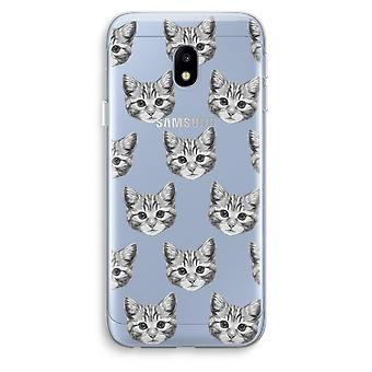 Samsung Galaxy J3 (2017) Transparent Case (Soft) - Kitten