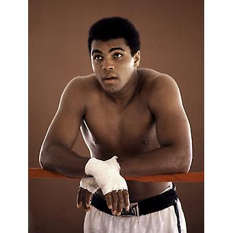 A Muhammad Ali at the 5th Street Gym in Miami Photo Print