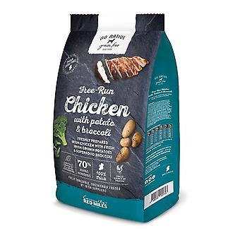 Roten Mühlen gehen Native Huhn/Kartoffel/Brokkoli rein 4kg Trockenfutter