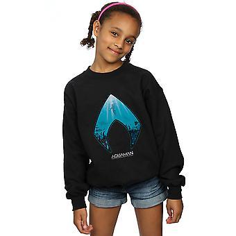 DC Comics Girls Aquaman Ozean Logo Sweatshirt
