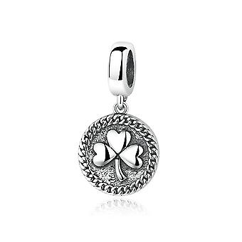 Sterling silver pendant charm clover