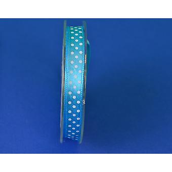 9.5mm Bright Blue Polka Dot Satin Craft Ribbon - 10m | Ribbons & Bows for Crafts