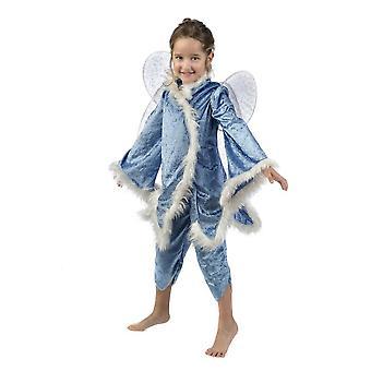 Blue Fairy Tinker Bell girls costume Winter fairy child costume