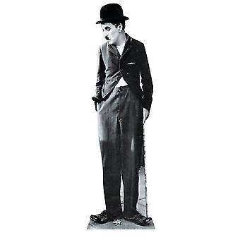 Recorte de cartón de tamaño natural de Charlie Chaplin / pie