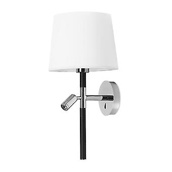 Chrome Wall Lamp With Led Reading Light