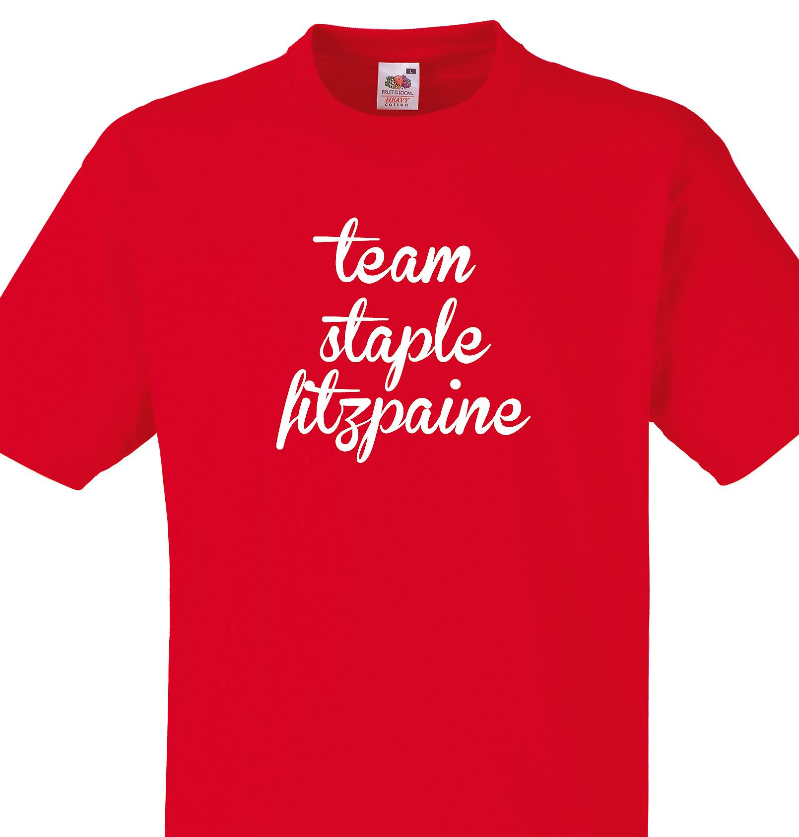 Team Staple fitzpaine Red T shirt