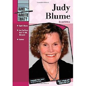 Judy Blume (som skrev det?)