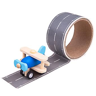 Bigjigs Toys Runway Track Sticker Tape - Removable Track Aeroplane Vehicle