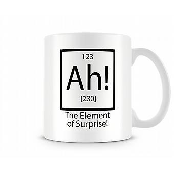 ¡ Ah! El elemento de sorpresa taza