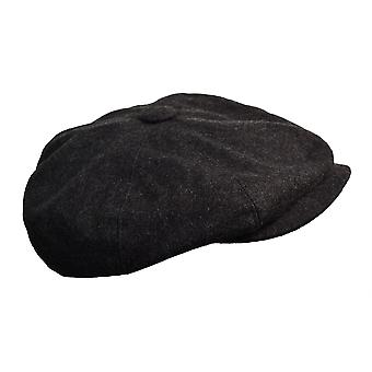 G&H Dark Grey Wool Newsboy Cap 56cm